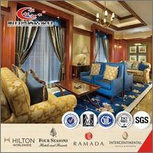 New design popular elegant solid wood white fabric hotel lobby sofa