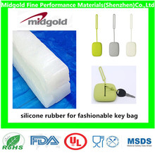 silicone rubber for silicone fashionable key bag with different colors