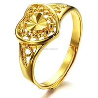 Copper 18k gold classic wealth finger male wedding ring adjustable brand new design J007