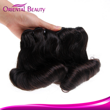 Unprocessed sexy aunty natural color virgin raw cheap wholesale high quality brazilian remy magical curl hair extension