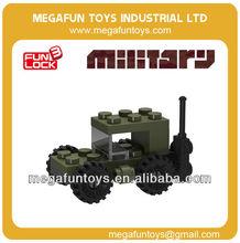 FUNLOCK 17pcs plástico mini jeep edificio bloque modelo de entrega de juguetes