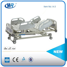 2015 HOT SALE With Certificate CE ISO 3 Cranks Manual Hospital Beds