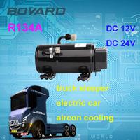 electric car kits R134A12v/24v/72v dc compressor for mini portable air conditioner of battery electric transit bus