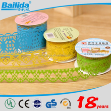 Hot sell 2015 new products colorful wholesale self adhesive gift packing decorative lace tape
