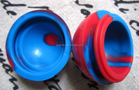 hot selling 38mm ball shape silicone dab container for storage