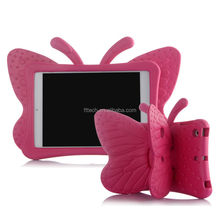 for iPad Mini Kids Case Eco-friendly butterfly Silicone Kid Proof Shock Proof Soft Case with Handles