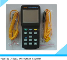 High Accuracy JNDA 82II Digital Multi-channel Thermocouple Thermometer With K J T E N S PT100 type probe made in Wenzhou factory