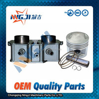 High Quality Motorcycle Cylinder kit Use for honda CBT125 Engine ;Double cylinder ;Water-Cooled ,Aluminium Alloy ,47mm