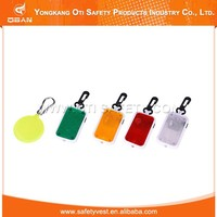 Promotional top quality road saty reflective pvc keychain