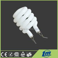 Pure tricolor half spiral full spiral lotus 2U 3U 4U type 2700K 4000K 6700K energy saving lamp cfl glass tube
