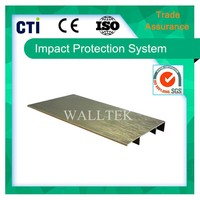 Aluminum skirting board for covering cables (DSB-80/11D)