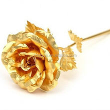 Hot selling 24k golden rose for wedding or gift
