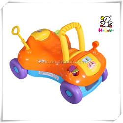 New Model Plastic Orange 4 Wheels Baby Walk Car with Antenna