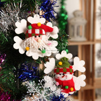 White nowflakes Hanging Ornaments Accessories For Christmas Tree