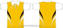 Healong 3D Sublimation Top Brand Polo Shirt Collar Design