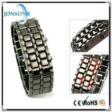 China factory price wholesale fashion red blue light led digital watch