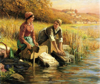 Natural Russian famous acrylic landscape paintings