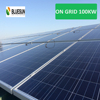 Bluesun easy installed solar system on grid 3 phases 100kw solar panel price