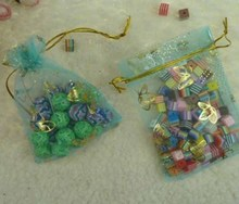Bolsa de logotipo personalizado colorido Eco-Friendly Organza empaqueta / bolsas de organza al por mayor / bolsa de organza