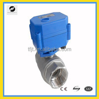 """CWX15N 2way DC12V 1"""" stainless steel electric motor valves for Auto drain& Water cooling system,Electric brewing system"""