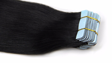 Wholesale price natural color black double drawn tape hair extensions 100% human hair
