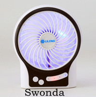 New Products Rechargeable USB Mini Fan with Battery and LED light