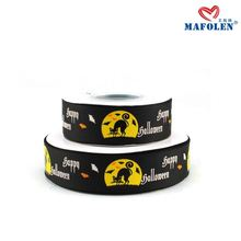 China factory hot sale kinds of ribbon halloween printed promotional ribbon