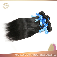 virgin brazilian remy hair for cheap silky straight remy human hair weft natural wave