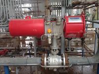 Heavy duty scotch yoke Pneumatic control ball valves flange end rotary actuator