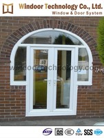 Top arched with opening casement window and door