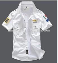 De alta calidad militar táctico de la camisa, costumbre de manga corta de táctica militar camisa