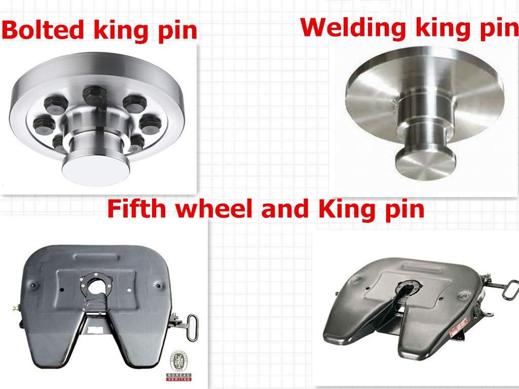 Fifth Wheel King Pin : Fuel semi trailer king pin welding fifth wheel