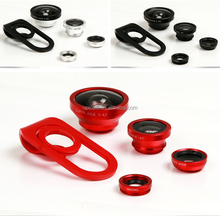 2015 New Hot Sale Fashion universal 4 in 1 Clip Mobile Phone Camera Lense with Wide-angle+Macro+Fisheye ,for most smart phone
