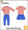 NEW merry christmas kids clothes sets baby clothing wholesale manufacturing china