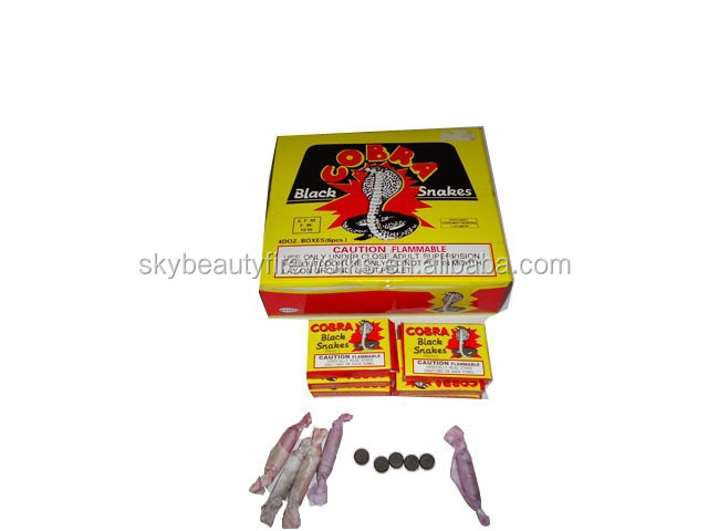 Magic Black Snakes Fireworks K1130 Magic Cobra Black Snake