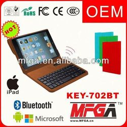 pink leather case bluetooth keyboard for ipad 3