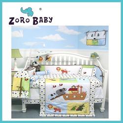 Cartoon Playground Baby Crib Nursery Bedding included Diaper Bag