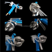 Chrome spray triangle paint spray gun No. SG3H for car paint