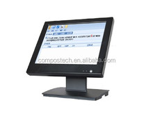 15inch all in one pos pc(1024x768) for Cosmetics store electric cash register