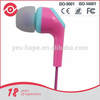 2015 hot sale MP3 player 3.5mm Wired earphone parts