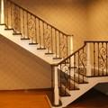 hermosa escalera de hierro forjado iso9001 l7001 fabricante