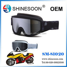 Hot sale&Top quality TPU frame motorcross goggles with smoke lens