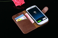 Luxury Genuine Real Leather Case for Samsung Galaxy S3 i9300 SIII Book & Flip Style Phone Bag Cover For Galaxy S3 Cover Shell