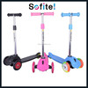 Colorful three wheel mini scooter/pro kick scooter for kids/best kick scooter for sale