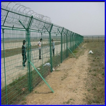 DM mild steel paint welded matal airport fence, airport fencing