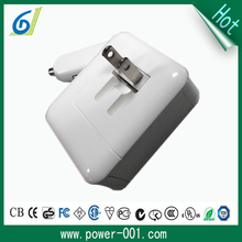 2 in 1 wall car power adapter dual USB 5V 2.1A good quality travel charger