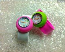 Colorful Fashion cheaper Silicone slap Watch 2012