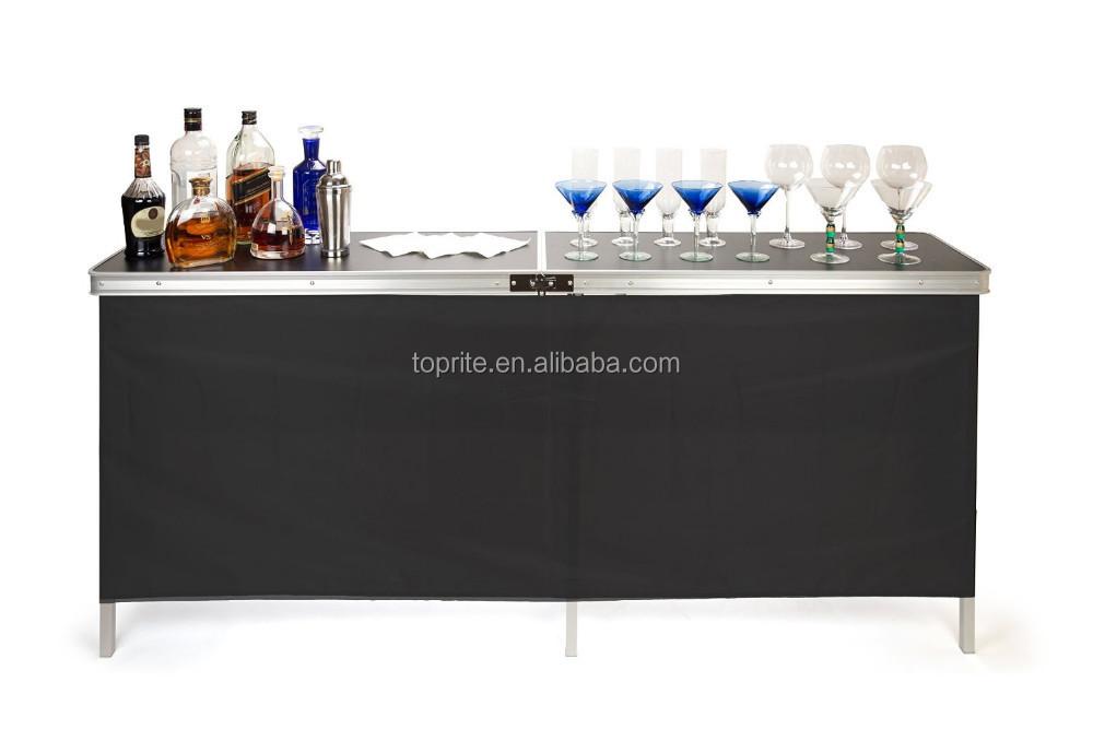 Aluminum Portable Bar Counter Folding Portable Bar