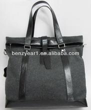 Guangzhou fashionable handbags 100% leather man bag