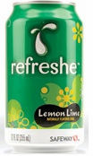 Refreshe Soft Drinks - Lemon Lime- 9 Flavors - Cola, Mountain Breeze,Root Beer, Orange, Grape, Pineapple, Strawberry